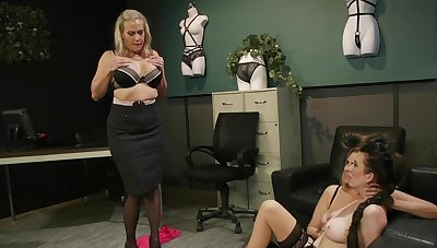 Liberality matures in all directions scenes of verge on femdom at the office