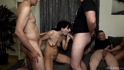 X Samy Saint likes rough group sex more than anything else