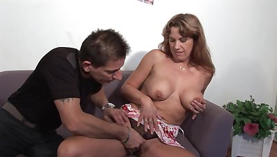 Oversexed mature lady - first porn video