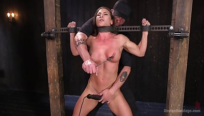 Extreme torture be incumbent on Ariel X with copy penetration from toys
