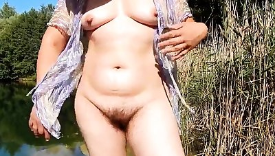 Hairy mature 41 y.o. outdoor