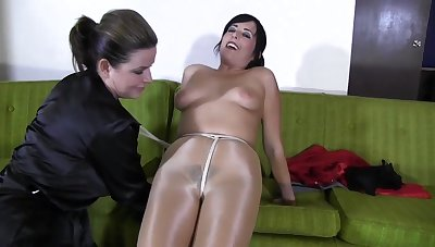 Hot milf down pantyhose bondage lesdom