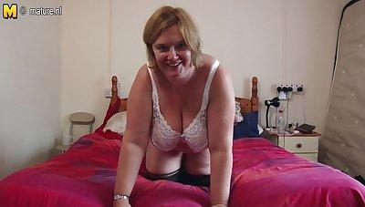 British Matured Lady Shows Her Big Tits And Masturbates - MatureNL