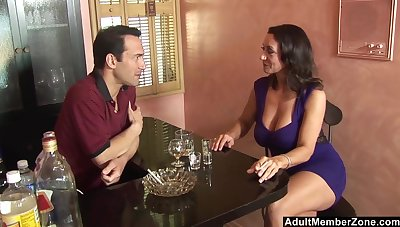 Close up video of mature pornstar Persia Monir pleasuring a large learn of