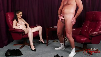Roxee Couture plays strip poker with her cadger and wins in a catch end