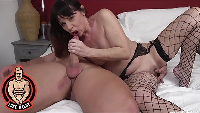 Video of a of age non-specific in fishnet stockings having nice copulation