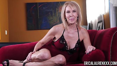 Be in charge mature comme ci lady Erica Lauren teases her really hot to trot pussy