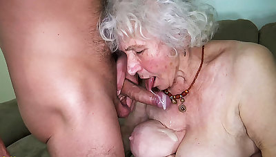 curvy 91 years old old lady fucked by toyboy