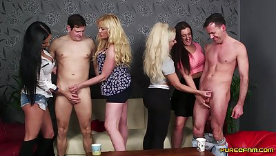 Aroused women are set to share these dicks in a kinky play
