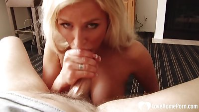 Stepmom munches on my rock-solid meat pole