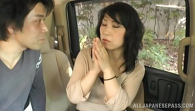 Amateur Japanese mature undressed and fucked wits a outsider