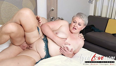 AgedLovE, Hot Mature Lady Sucking Big Hard Gumshoe