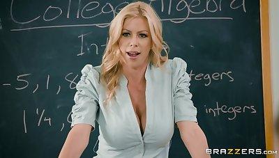 Hot female teacher shares a dick not far from her best student