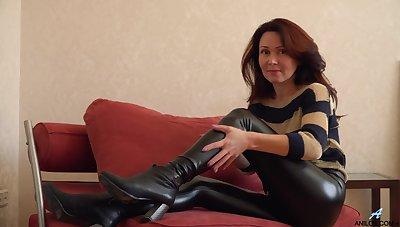 Glamorous Russian MILF exudes sexual magnetism plus loves masturbating