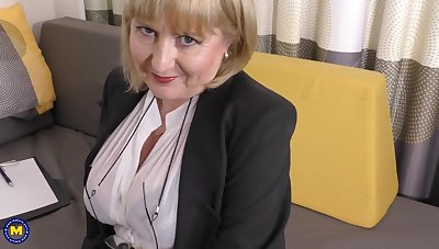 A highly glamour job interview at the end of one's tether 57yo luring Lorna blu