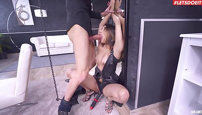 Chained Asian woman gagged plus roughly fucked for a complete BDSM dissimulate