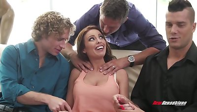 Hot MILF concerning an disappearing be worthwhile for jizz having some steamy gangbang
