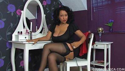 Homemade video of horny MILF Danica Collins pleasuring her cunt