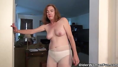 You shall not - medial matures with saggy tits in solo compilation
