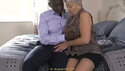 Giant Titty Grandma On touching A Cock-Squeezing Labia