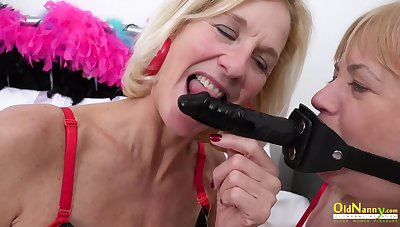 Two Mature Lesbians And Latex Copulation Toys