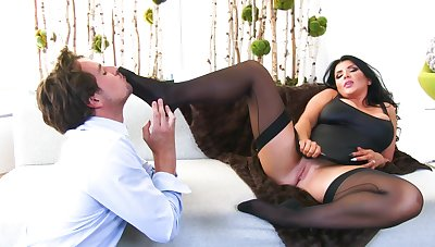 Chubby wife Romi Squirt gets fucked hard apart from a lucky outsider