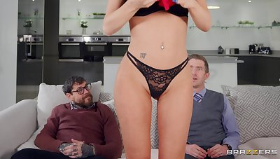 Pierced clit trophy tie the knot Jasmine Jae gets fucked hard by husband's collaborate
