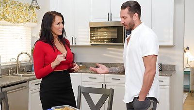 About tits MILF Reagan Foxx moans during quickie pussy pounding