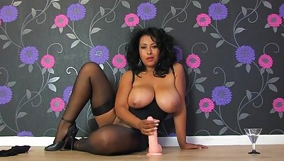 Dirty wife Danica Collins teaches how she pleasures a large dick