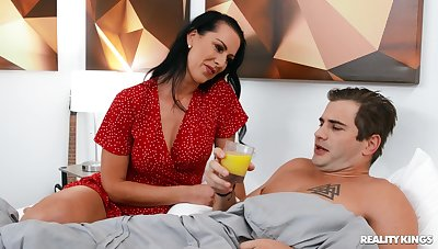 Cum eating wife Texas Patti moans while having sex with a lover